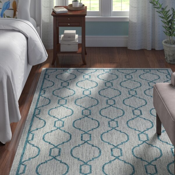 Ford Transitional Teal Indoor/Outdoor Area Rug by Andover Mills