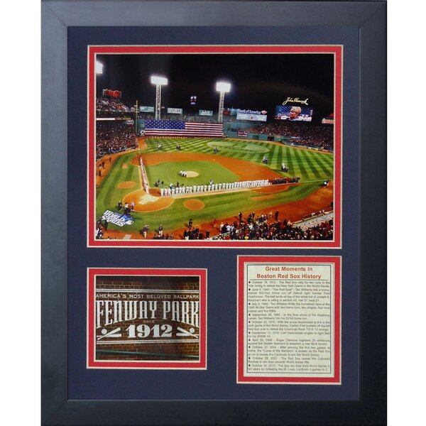 Fenway Park 2013 World Series Framed Memorabilia by Legends Never Die
