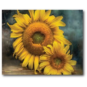 Farmhouse Canvas Sunflowers Graphic Art on Wrapped Canvas by Courtside Market