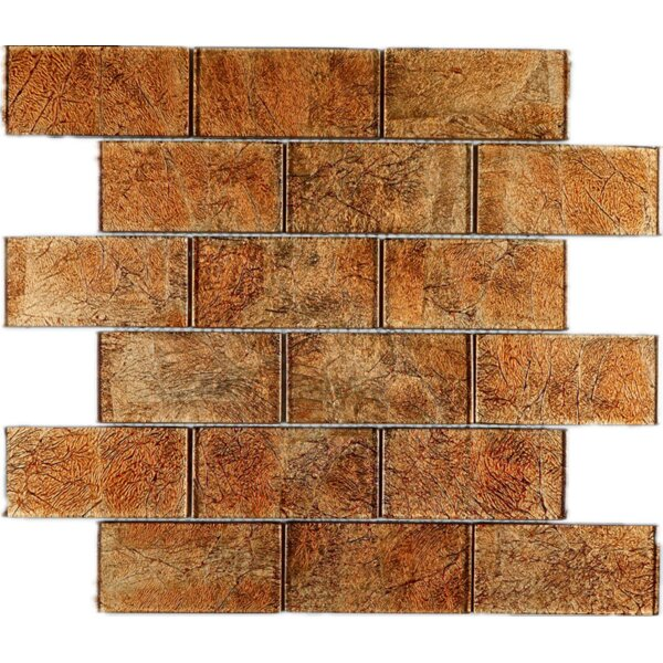 2 x 4 Glass Tile in Brown by Multile