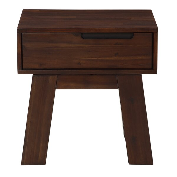 Damiani Solid Wood End Table with Storage by Brayden Studio Brayden Studio