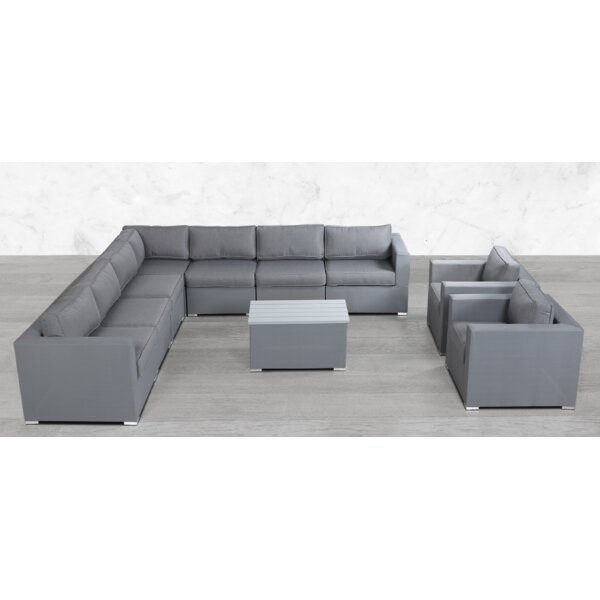 Fuchs Modular L Shape 10 Piece Sectional Seating Group with Cushions by Orren Ellis