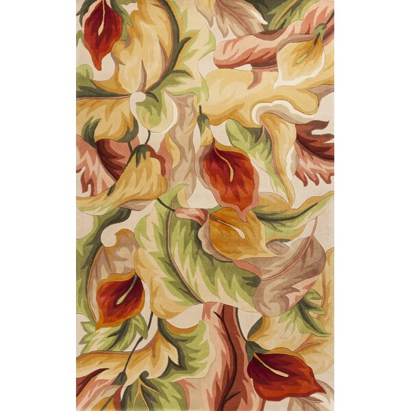 Ellicott Ivory Calla Lillies Rug by Bay Isle Home
