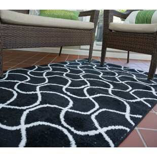 Buy clear One-of-a-Kind Algedi Infinity Black/White Area Rug By Wrought Studio