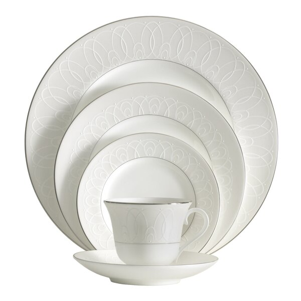 Ballet Icing Pearl Bone China 5 Piece Place Setting, Service for 1 by Waterford
