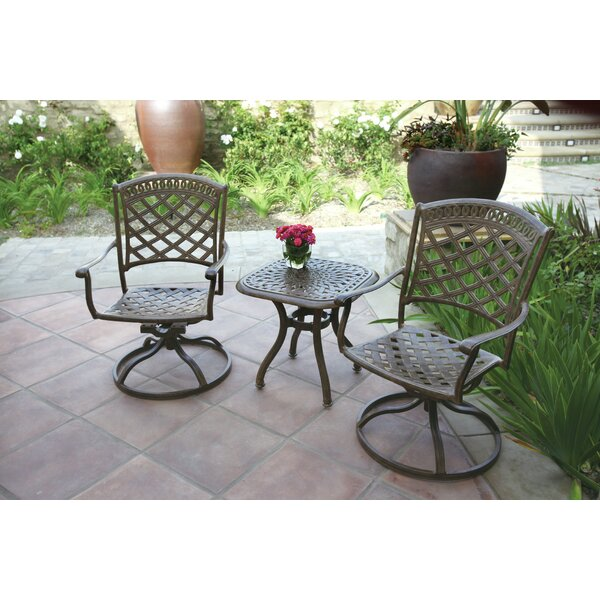Thompson 3 Piece  Conversation Set with Cushions by Alcott Hill