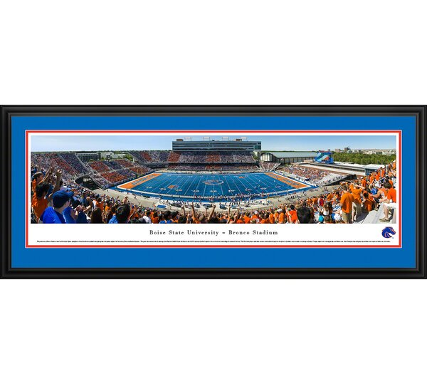 NCAA Boise State University - 50 Yard Line by Christopher Gjevre Framed Photographic Print by Blakeway Worldwide Panoramas, Inc