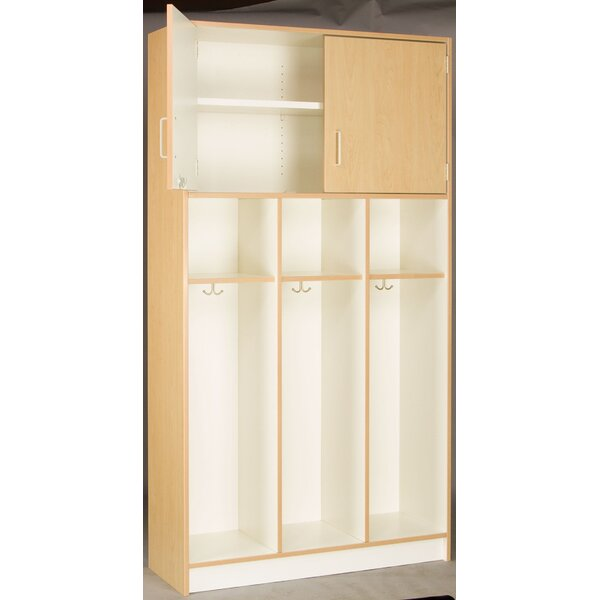 4 Tier 3 Wide Coat Locker by Stevens ID Systems
