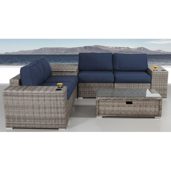 Leamon 8 Piece Sunbrella Sectional Set with Cushions by Sol 72 Outdoor