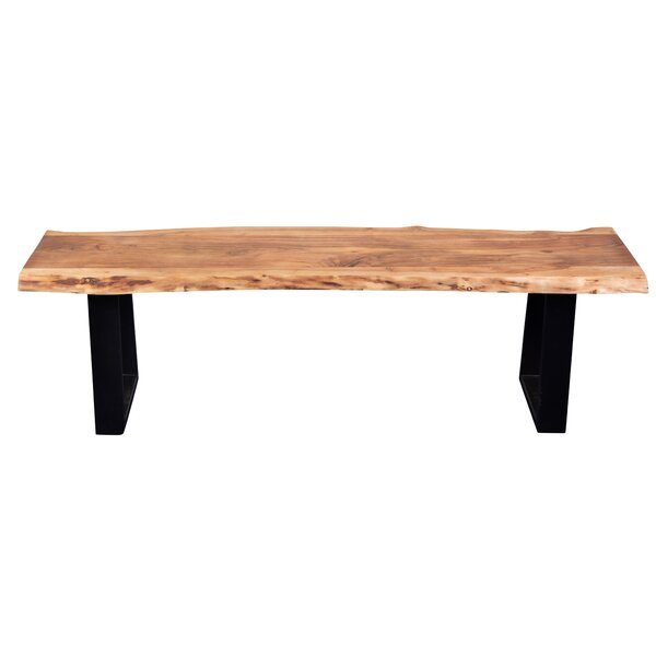 Naia Acacia Live Edge Bench by Millwood Pines