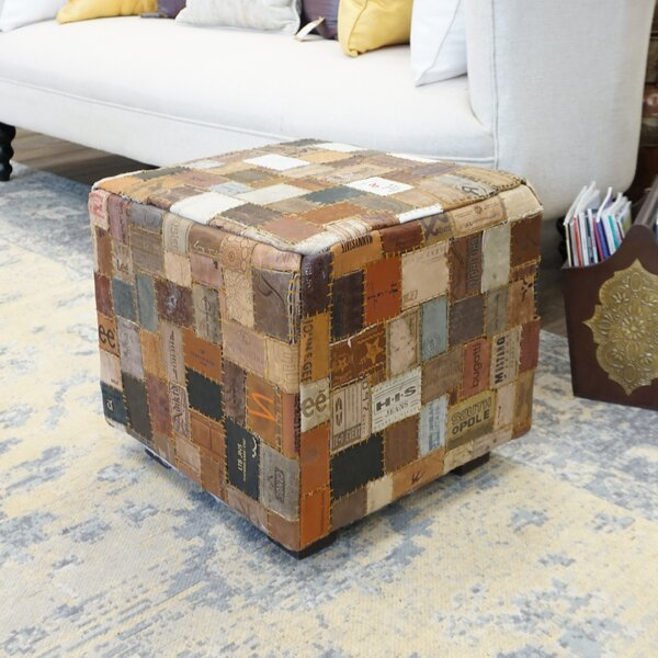 Daniella Leather Cube by Millwood Pines
