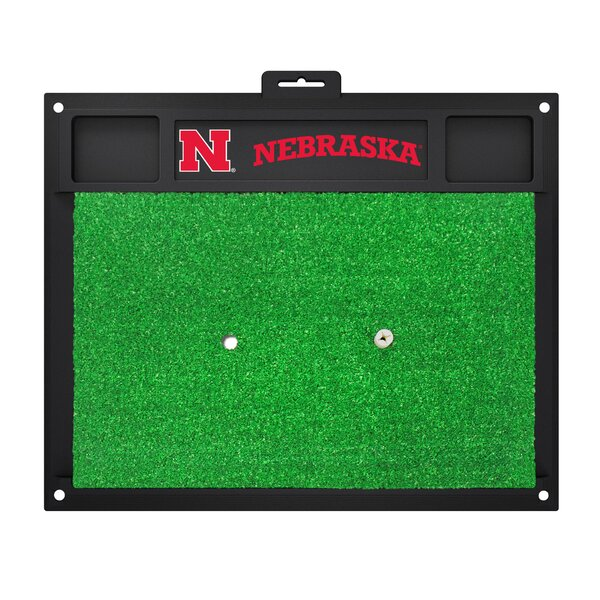 NCAA University of Nebraska Golf Hitting Mat by FANMATS