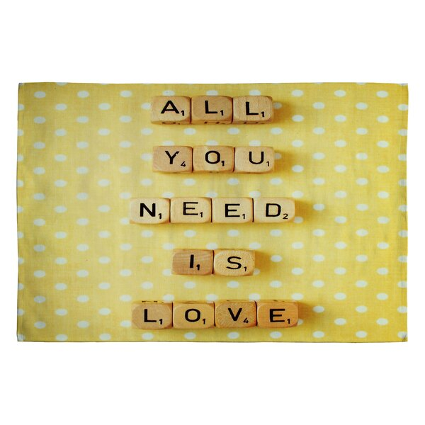 Happee Monkee All You Need Is Love 1 Novelty Rug by Deny Designs