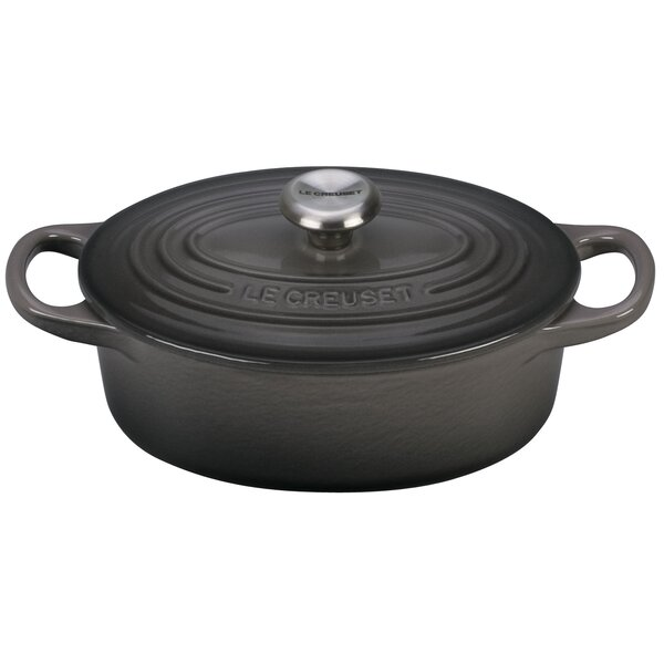 Enameled Cast Iron Signature Oval Dutch Oven by Le Creuset