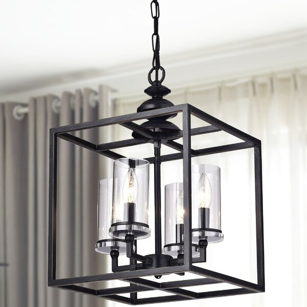 Didmarton 4 - Light Shaded Rectangle / Square Chandelier by Darby Home Co Darby Home Co