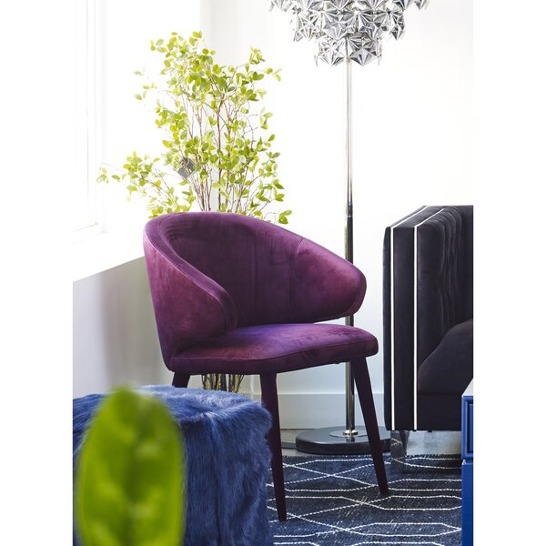 Risha Upholstered Dining Chair by Everly Quinn