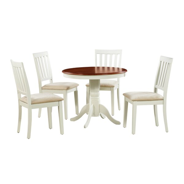 Coby 5 Piece Solid Wood Dining Set by Alcott Hill