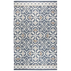 Nordmeyer Hand-Tufted Blue/Gray Area Rug