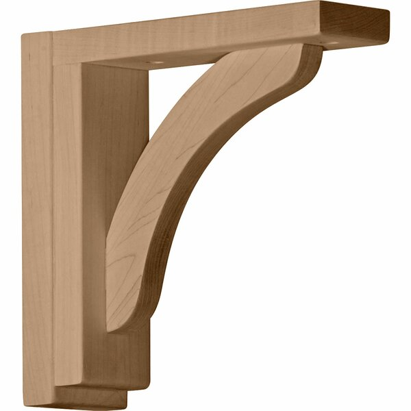 Reece 8 1/4H x 2 1/2W x 8 3/4D Shelf Bracket in Red Oak by Ekena Millwork