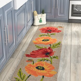 Haverstraw Hand-Tufted Yellow/Red Indoor/Outdoor Area Rug by Andover Mills