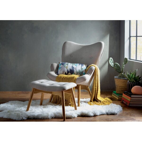 Ali  Wingback Chair and Ottoman by Corrigan Studio