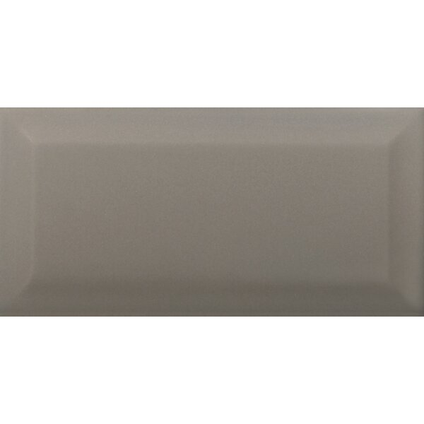Choice Beveled 3 x 6 Ceramic Subway Tile in Glossy Taupe by Emser Tile