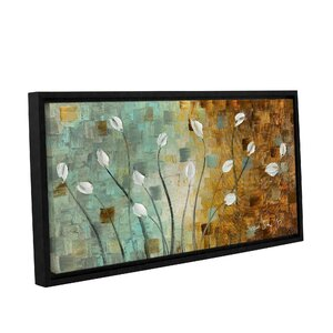 White Tulips Framed Painting Print by Latitude Run