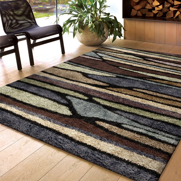 Xavier Brown Area Rug by Threadbind