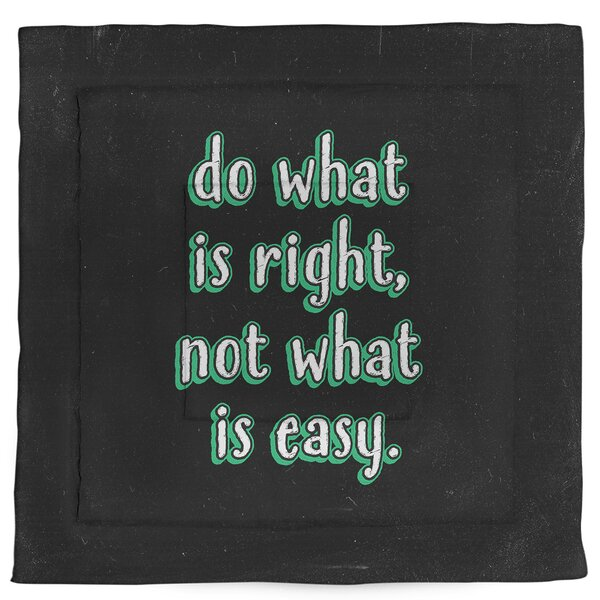 Do What Is Right Single Reversible Comforter
