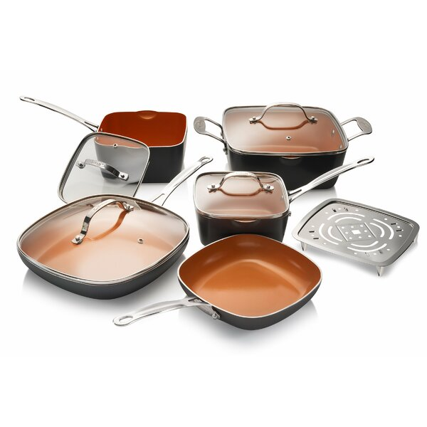 10 Piece Non-Stick Cookware Set by Gotham Steel