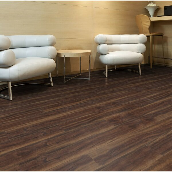6 x 48 x 2.5mm Luxury Vinyl Plank in Brown by Floressence Surfaces