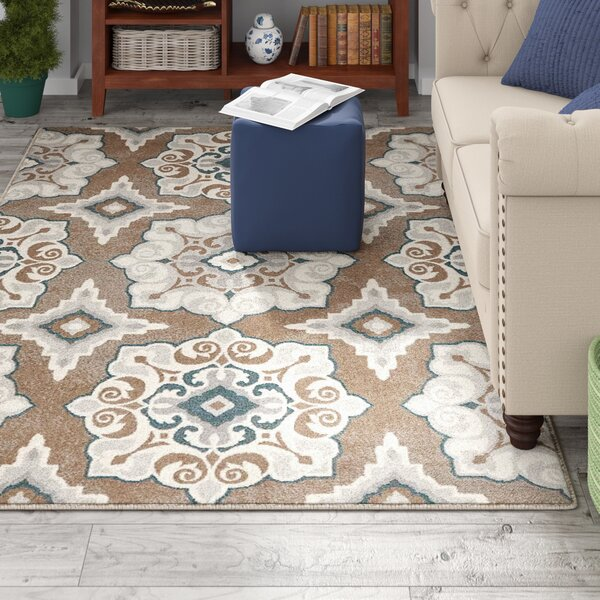 Quattlebaum Cerulean Blue/Taupe Area Rug by Andover Mills