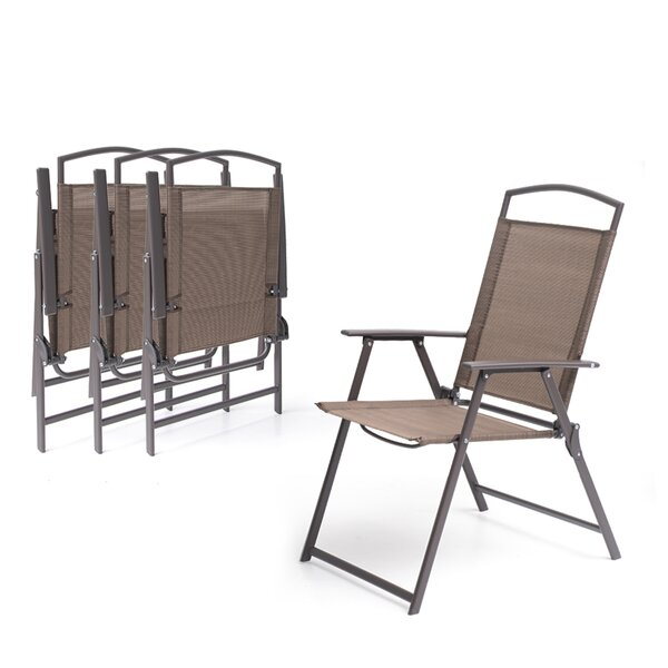Spooner Folding Patio Dining Chair (Set of 4) by Latitude Run