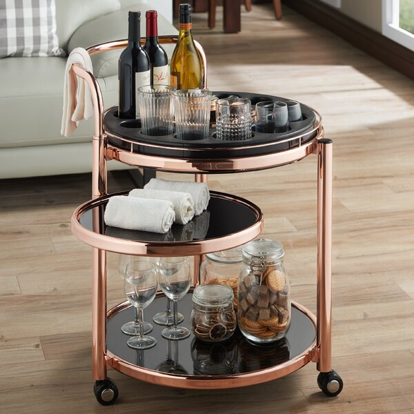 Baisley Serving Bar Cart by Mercer41 Mercer41