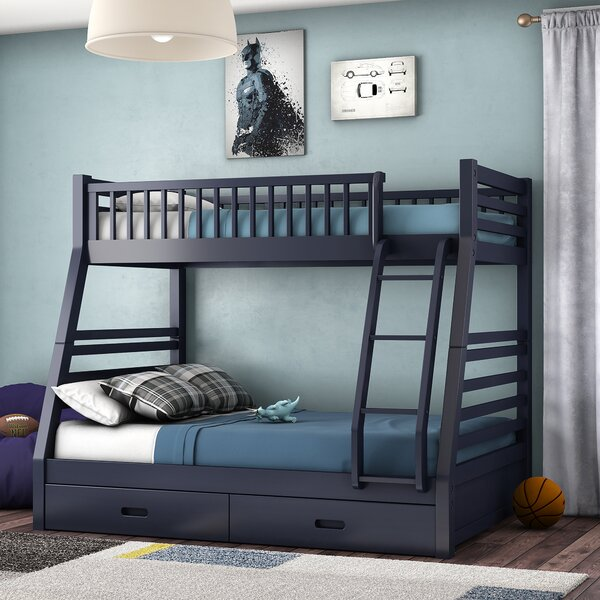 Rafael Twin Over Full Bunk Bed with Drawers by Viv + Rae
