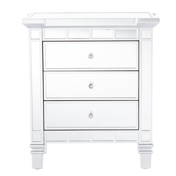 Boyes Mirrored 3-Drawer Accent Chest by House of Hampton