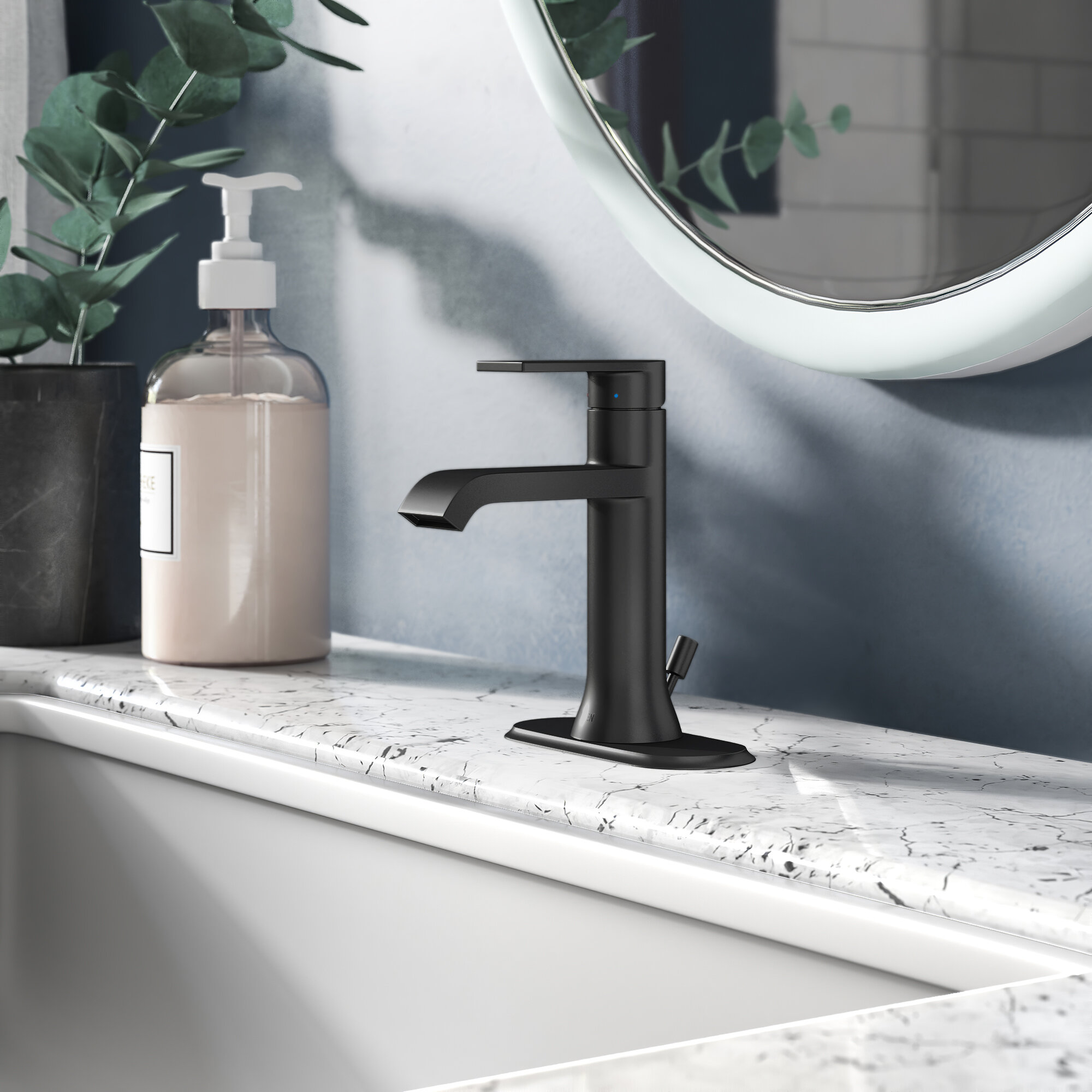 6702 Moen Genta Lx Single Hole Bathroom Faucet With Drain Assembly Reviews Wayfair