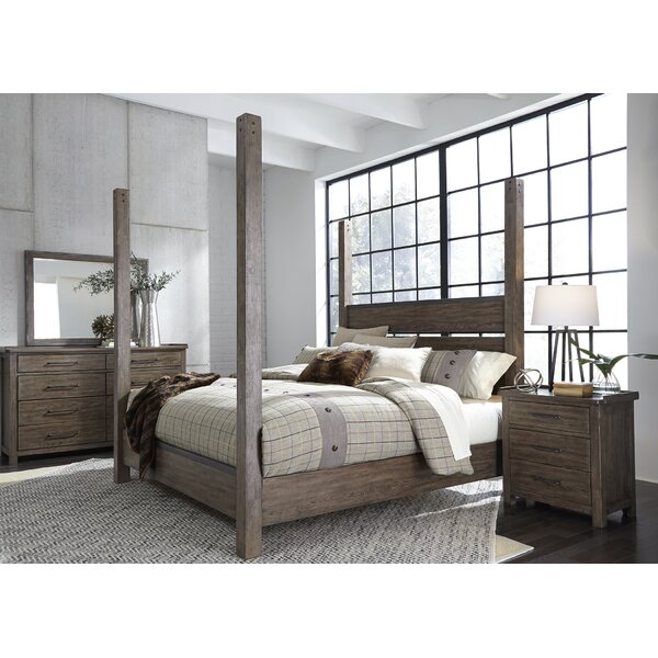 Clayton Four Poster Panel Configurable Bedroom Set by Gracie Oaks