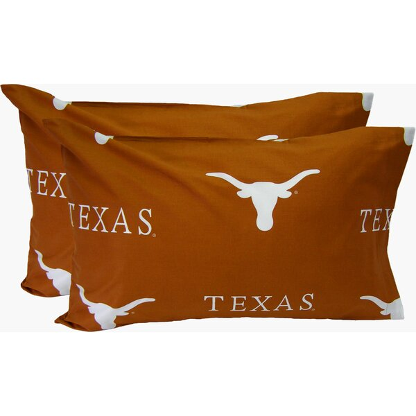 Collegiate NCAA Texas Longhorns Pillowcase (Set of 2) by College Covers