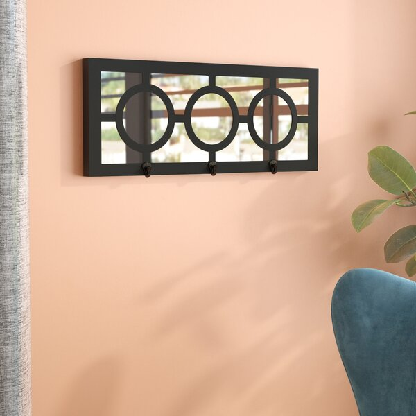 3 Hook Geometric Wall Mirror by Willa Arlo Interiors