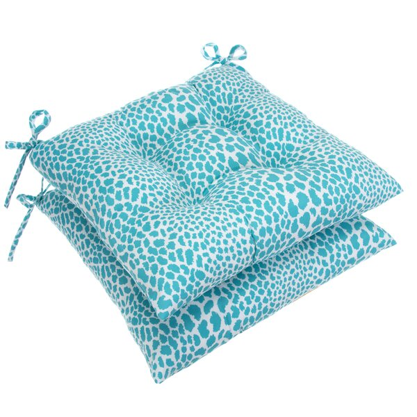 Tufted Indoor/Outdoor Dining Chair Cushion (Set Of 2) By Bloomsbury Market