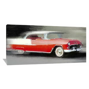 '1955 Chevrolet Bel Air Coupe' Painting Print on Wrapped Canvas by Naxart
