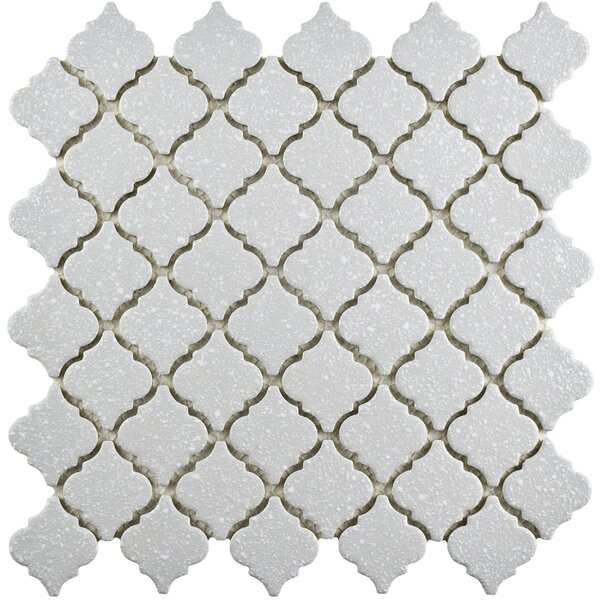 Pharsalia Minerva 12.38 x 12.5 Porcelain Mosaic Floor and Wall Tile in Gray by EliteTile