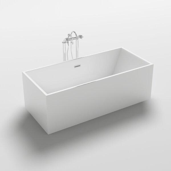 Burano 70.3 x 31.5 Freestanding Soaking Bathtub by Kokss