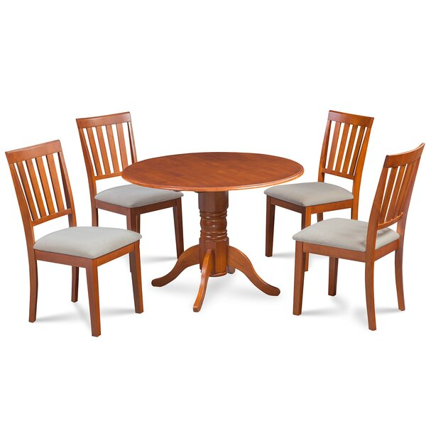 Chesterton Transitional 5 Piece Drop Leaf Dining Set by Alcott Hill