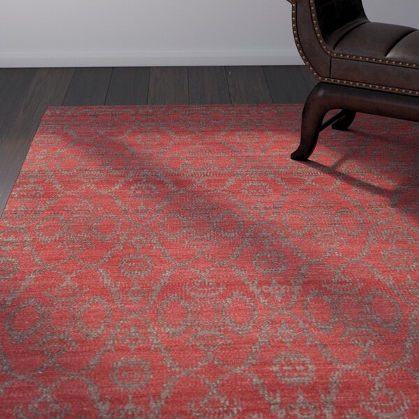 Daria Hand-Woven Wool Red Area Rug by Bloomsbury Market