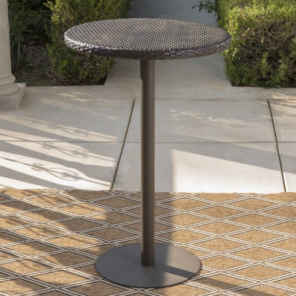 Crater Contemporary Outdoor Bar Table by Ivy Bronx