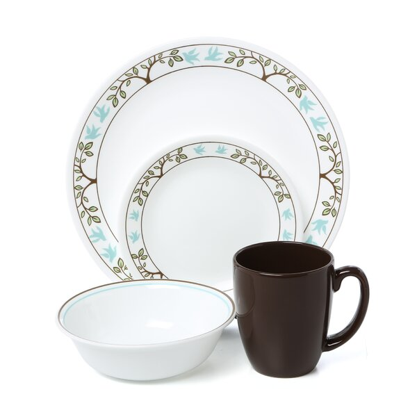 Livingware Tree Bird 16 Piece Dinnerware Set, Service for 4 by Corelle