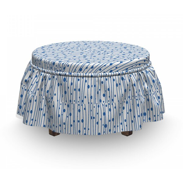 Water Drop Lines Ottoman Slipcover (Set Of 2) By East Urban Home