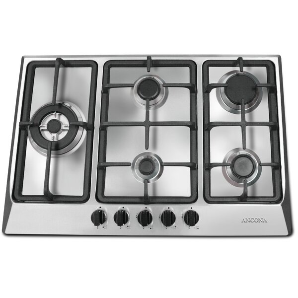 30 Gas Cooktop With 5 Burners By Ancona.